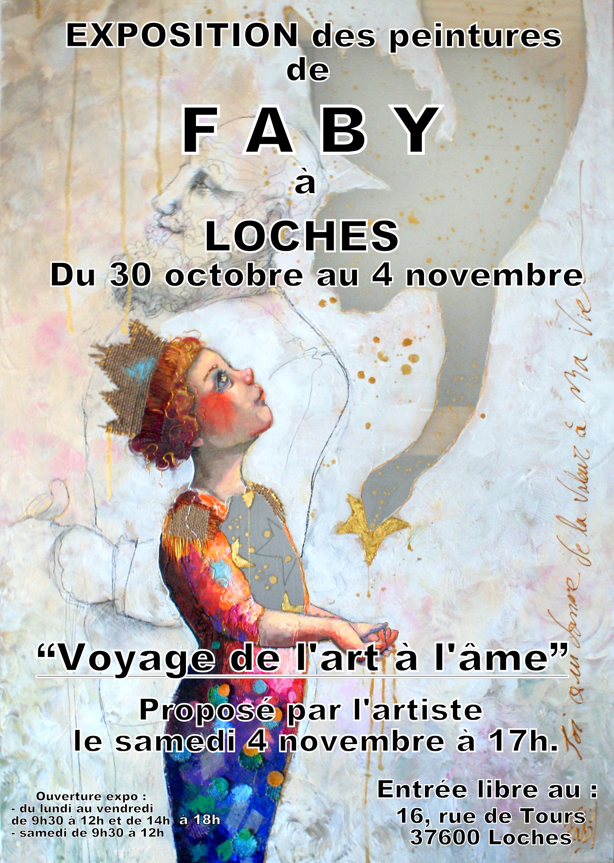 Du 30 oct au 4 nov exposition personnelle à Loches
