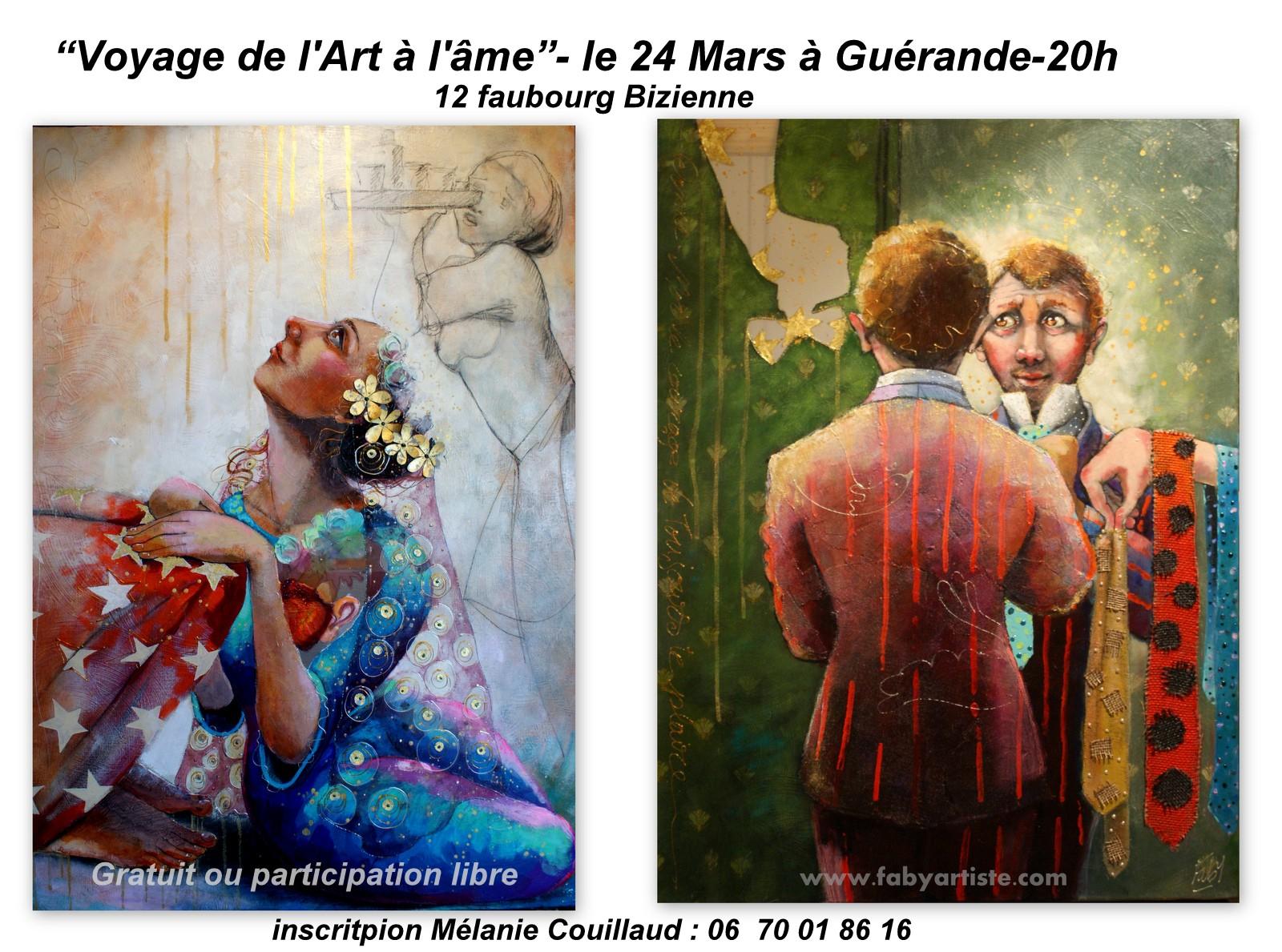 Voyage de l'art à l'âme le 24 mars 20h à Guérande