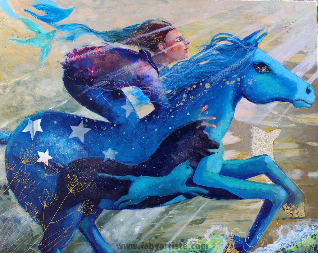 Le galop bleu